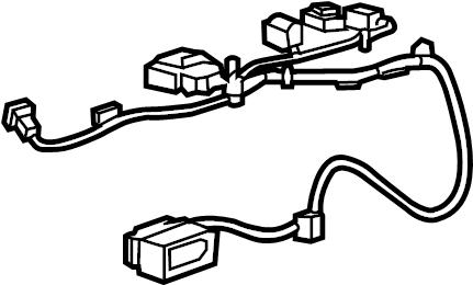GMC Canyon Air Bag Wiring Harness. W/O POWER SEATS, CANYON