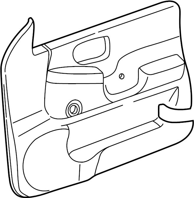 Chevrolet S10 Door Interior Trim Panel. 1998-04, manual