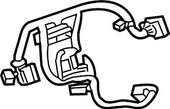 GMC Sierra 1500 Steering Wheel Wiring Harness. LEATHER