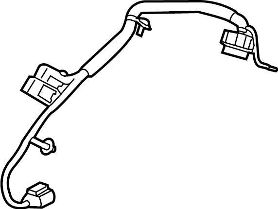 Chevrolet Blazer Differential Lock Wiring Harness. W/AWD