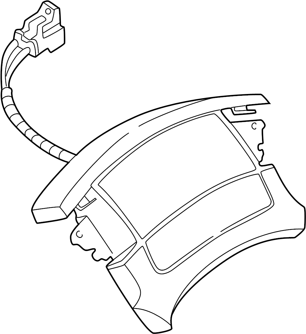 Gmc Safari Steering Wheel Air Bag Inflator Module