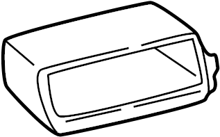 Chevrolet C1500 Suburban Instrument Panel Pocket. 1995-00