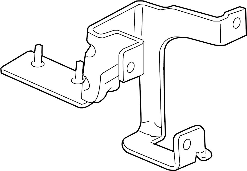 GMC Sierra 2500 HD Abs control module bracket. 3/4 & 1 ton