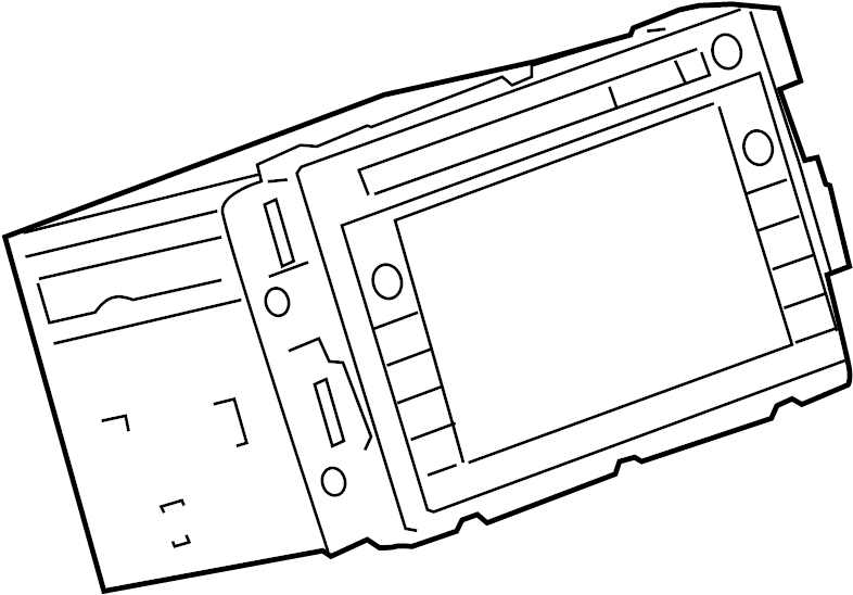GMC Sierra 2500 HD Radio Control Unit. AM/FM CD, w/o 6