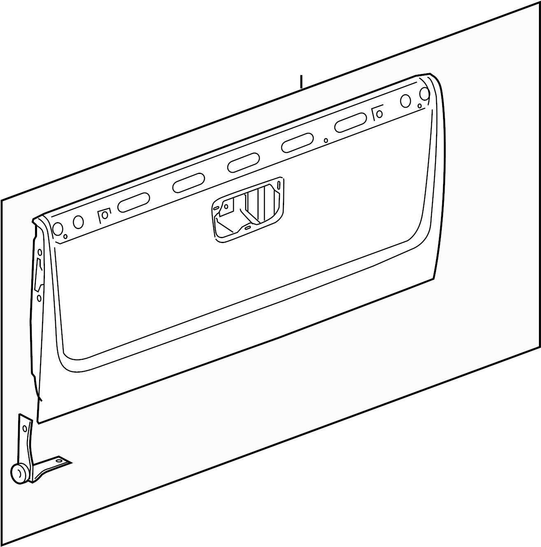 Chevrolet Silverado Tailgate Upper