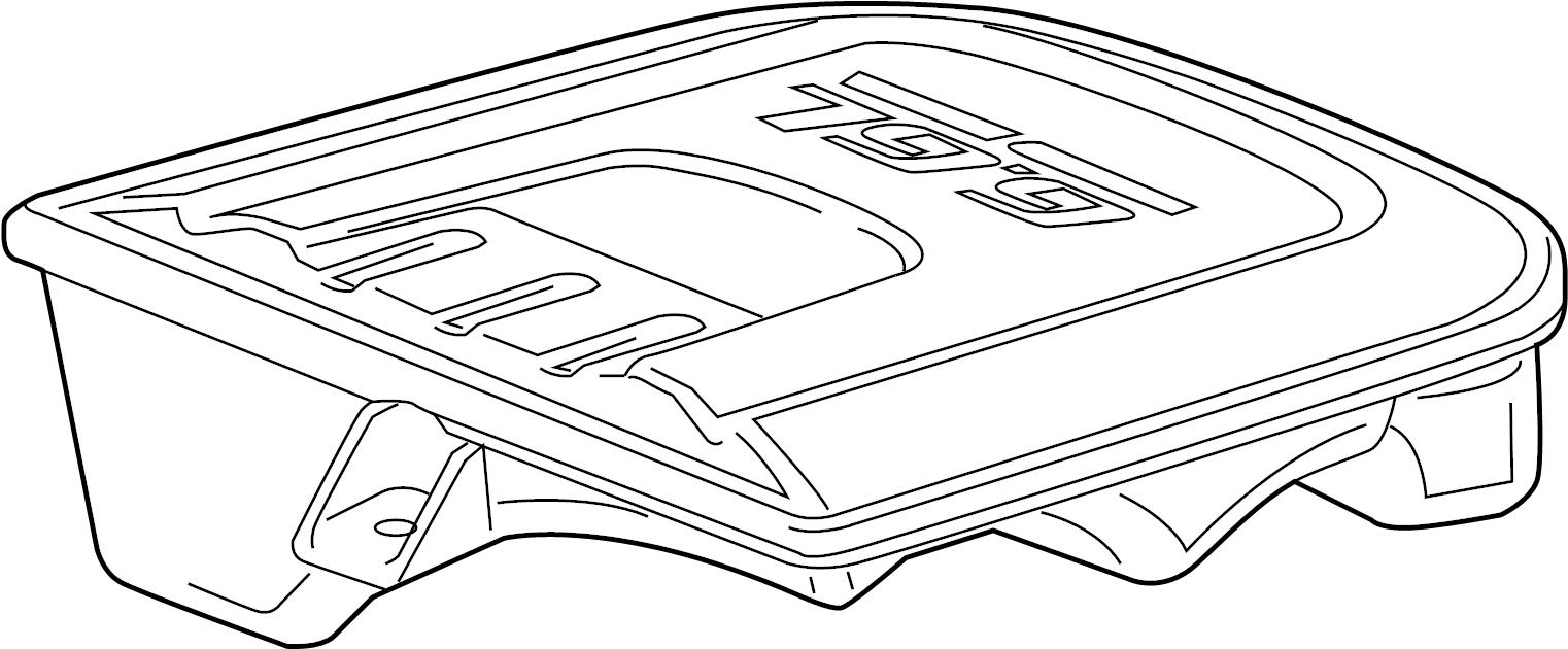 Chevrolet Silverado 2500 HD Engine Cover. 2015-16. 6.6