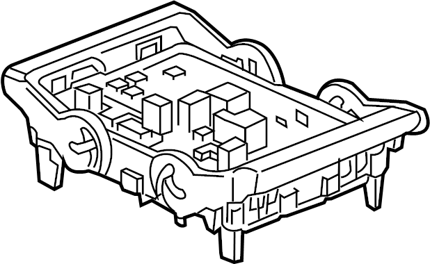 GMC Sierra 3500 HD Fuse AND relay box. Fuse and Relay