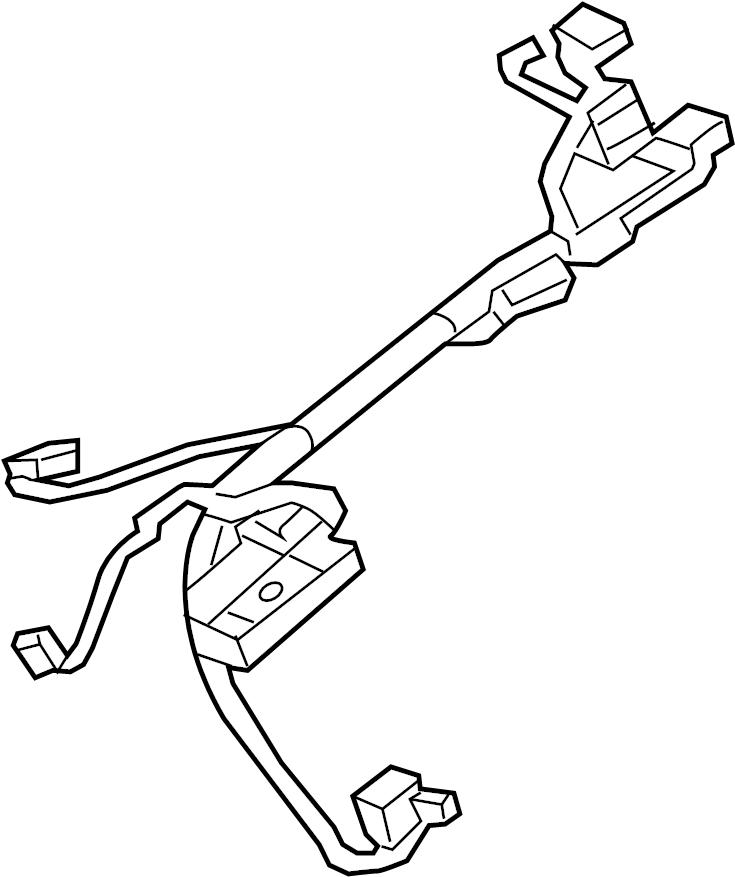 GMC Sierra 1500 Steering Column Wiring Harness. W/o cruise