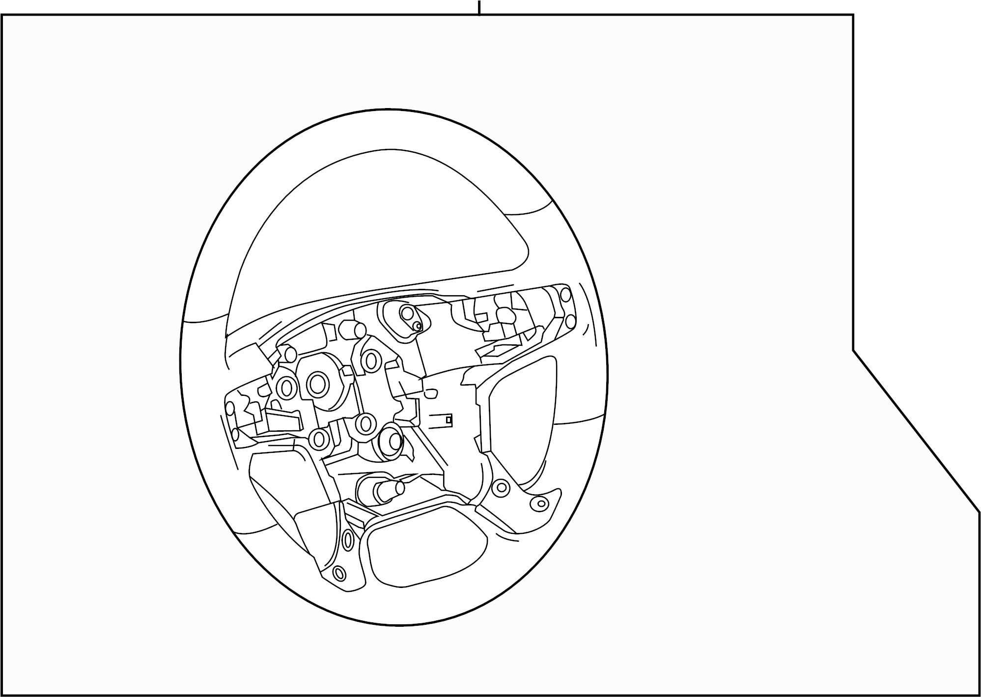 Chevrolet Silverado 1500 Steering Wheel. HEATED, Denali