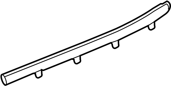 Chevrolet Silverado 3500 HD Door Belt Molding (Upper