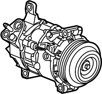 Chevrolet Silverado 2500 HD A/c compressor. Repair, make