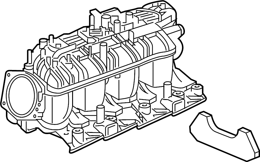 GMC Yukon Engine Intake Manifold. LITER, CNG, Silverado