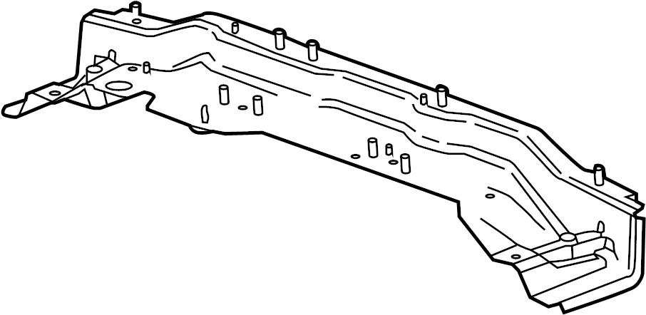 GMC Sierra 2500 HD Floor Pan Crossmember. CREW CAB. Rear