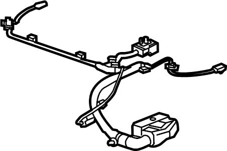 GMC Sierra 2500 HD Power Seat Wiring Harness (Front