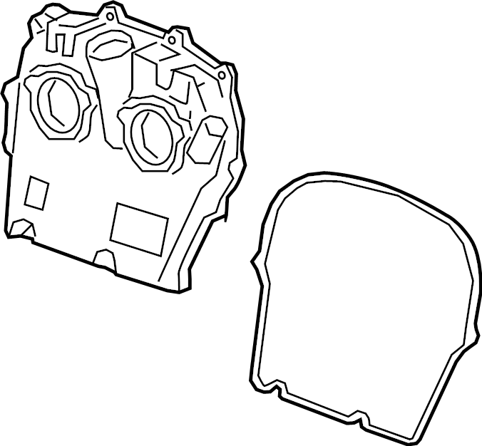 Chevrolet Silverado 1500 Engine Timing Cover (Front, Upper