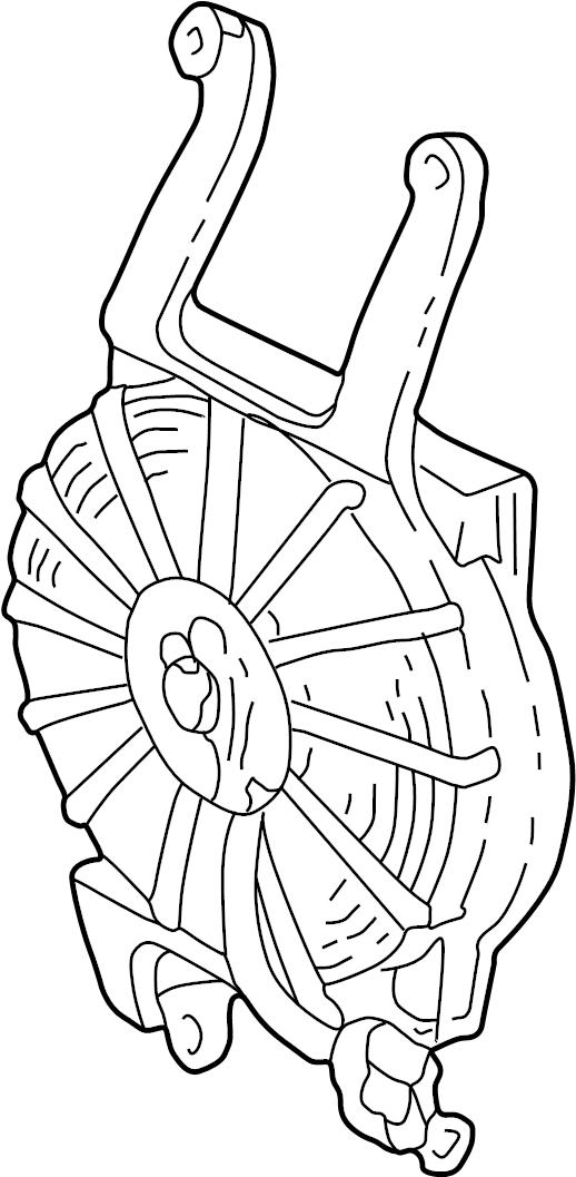GMC K1500 Suburban Fan. Air Conditioning (A/C) Condenser