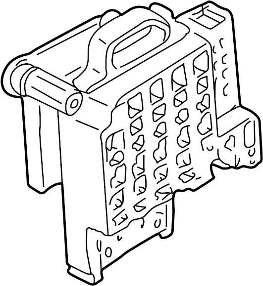 Chevrolet K1500 Suburban Fuse Box. 1995-00, 1997-00. 1997