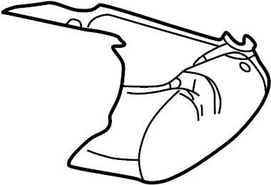 GMC Sierra 1500 HD Seat Cushion Foam (Front). BENCH SEAT
