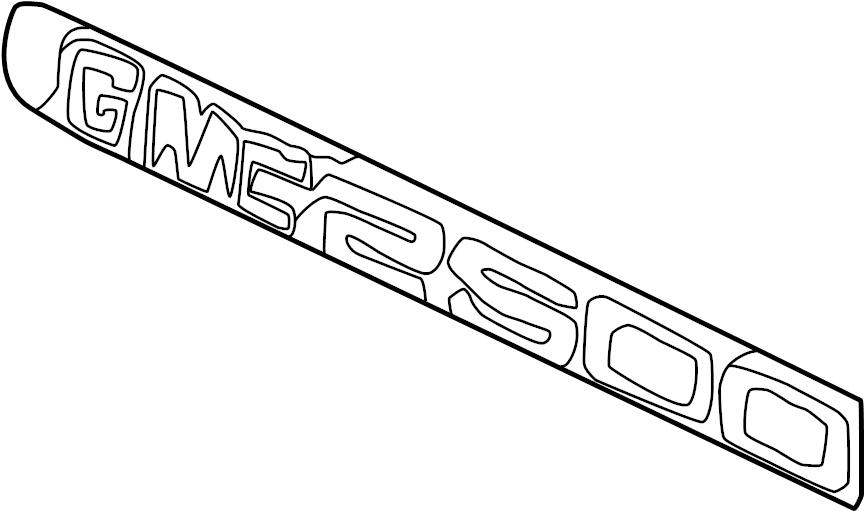 Chevrolet Express 3500 Door Emblem. GMC 3500. 1999-02, ALL