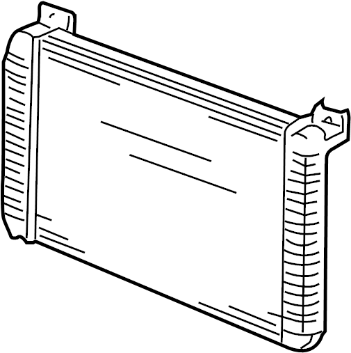 Chevrolet Silverado 1500 HD Radiator. Trans, Manual