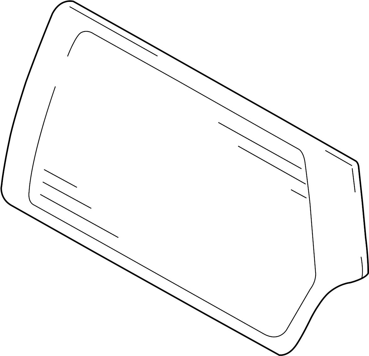 Chevrolet Tracker Liftgate Glass 4 Door Gm 4 Door Gm