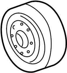 GMC Sonoma Engine Cooling Fan Clutch Pulley. Engine Water