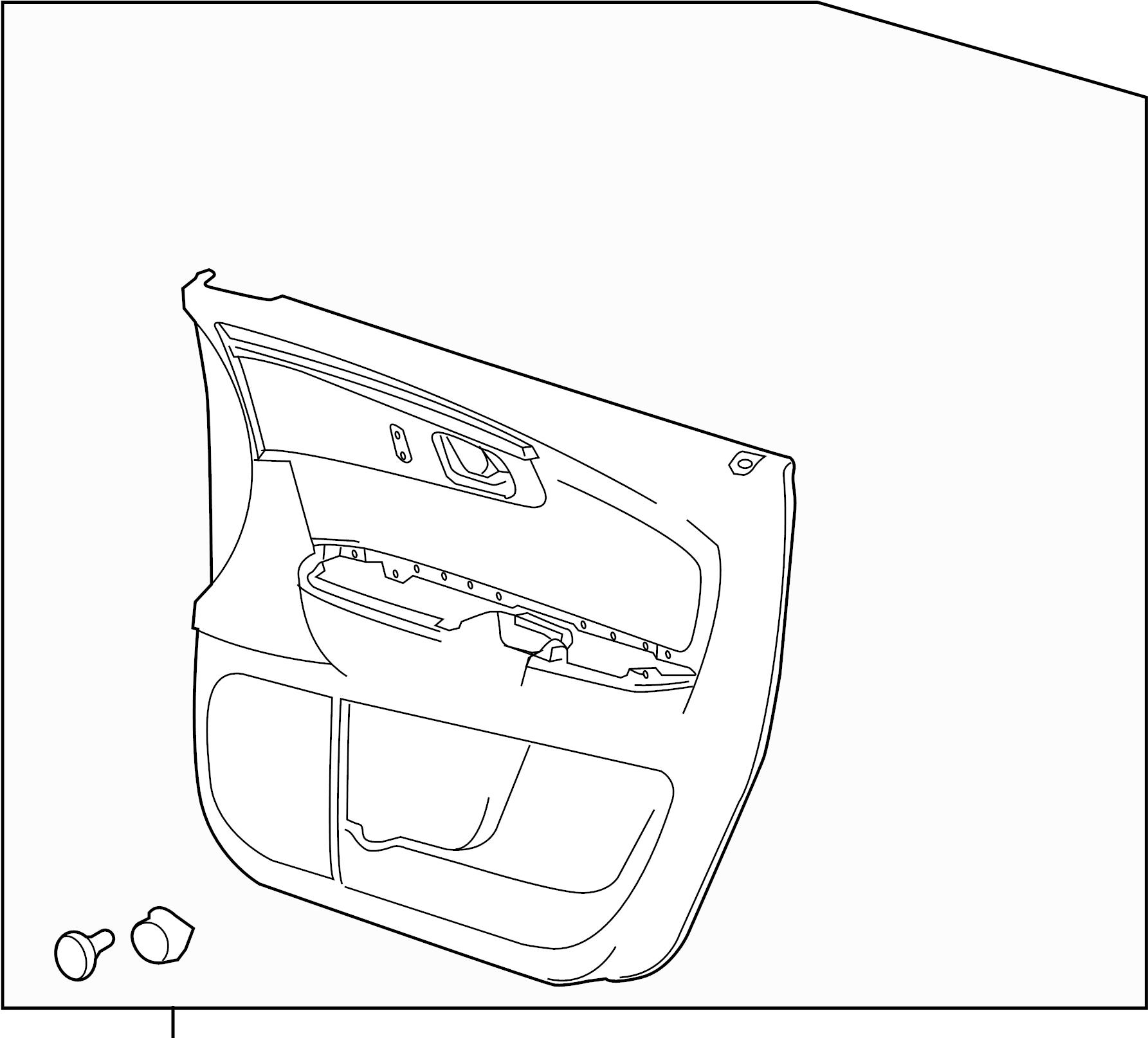 Chevrolet Traverse Door Interior Trim Panel. PASSENGER