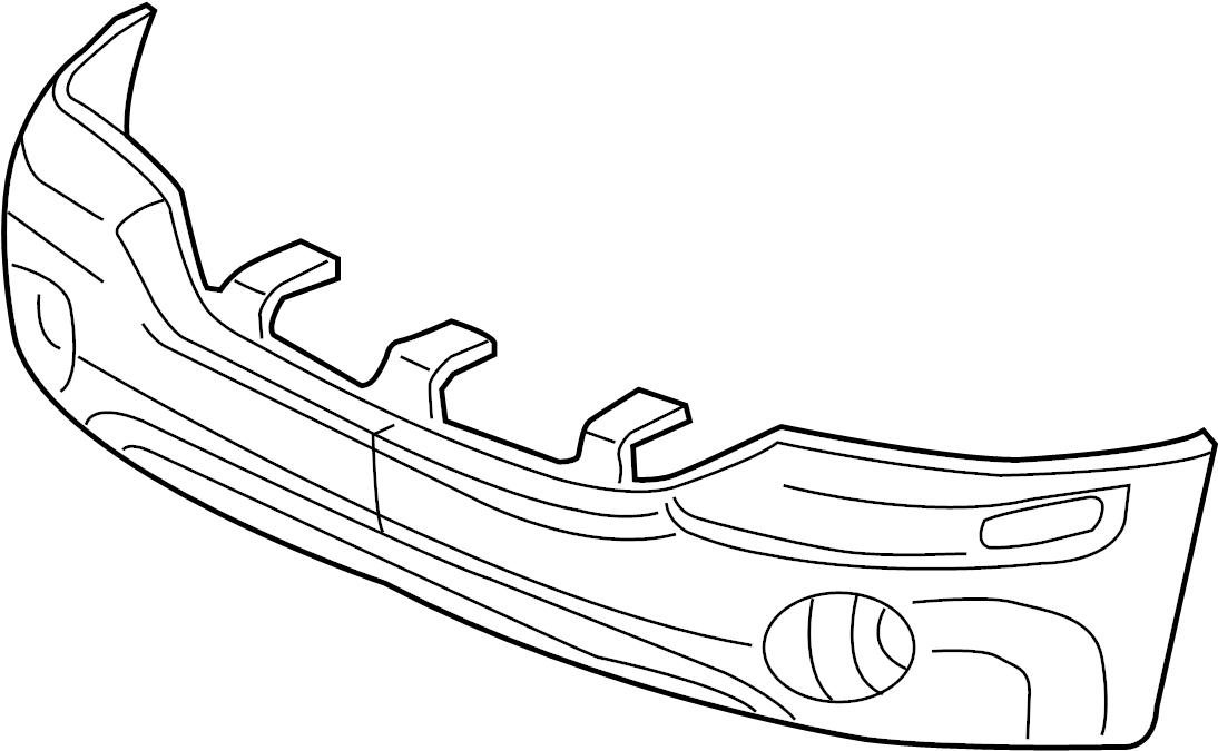 GMC Envoy XL Bumper Cover (Front, Upper, Lower). GMC, W/O