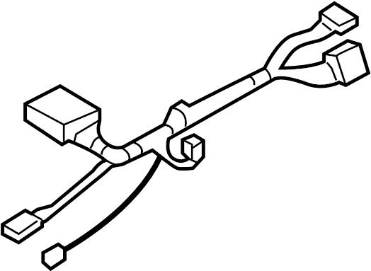 Chevrolet Trailblazer Steering Column Wiring Harness. W