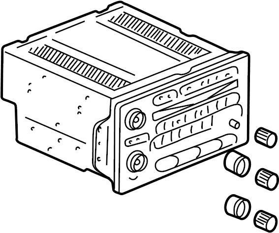 Chevrolet Silverado 3500 Classic Radio Control Unit. AMFM