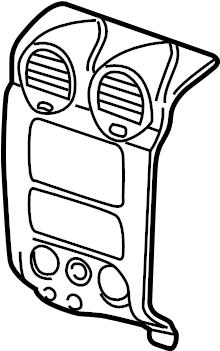 GMC Envoy Radio Bezel. GMC, w/o luxury pkg, gray