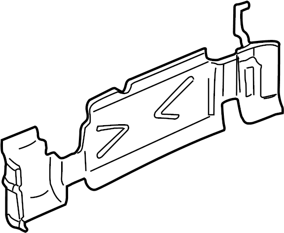 GMC Envoy Fuel Tank Shield. Wheel, Short, Protector