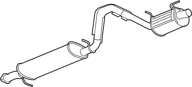 GMC Envoy Exhaust Muffler. 6.0 LITER. Envoy/Trailblazer; 6