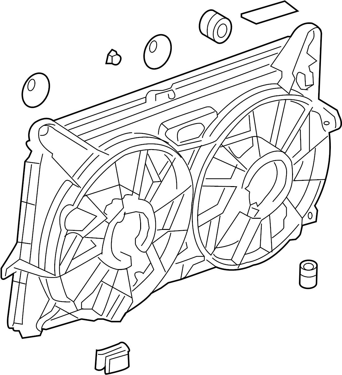 Chevrolet Silverado Engine Cooling Fan Shroud Upper
