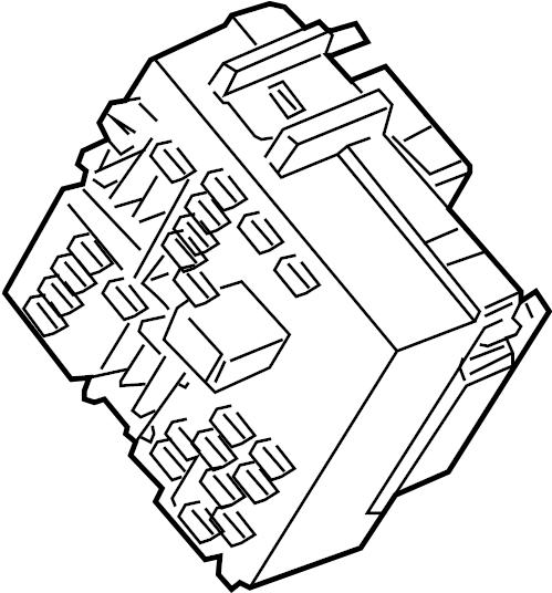 GMC Yukon XL 1500 Fuse Box. Junction block. 2003-07. A