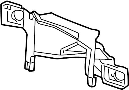 Chevrolet Silverado 2500 Headlight Bracket (Upper, Lower