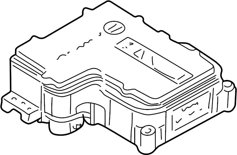 Chevrolet Silverado 1500 HD Abs control module. Control