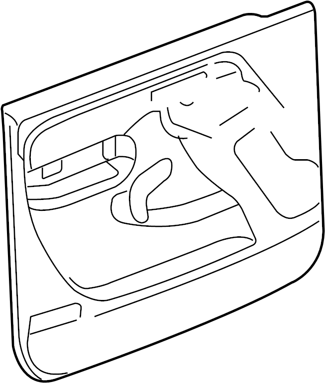 GMC Sierra 2500 HD Door Interior Trim Panel. W/leather