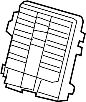 GMC Sierra 1500 Junction Block. INSTRUMENT PANEL, lower