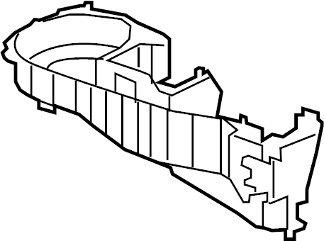Buick Enclave Hvac blower motor housing. Front, control
