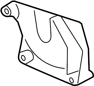 Buick Enclave Automatic Transmission Mount Bracket. ENGINE