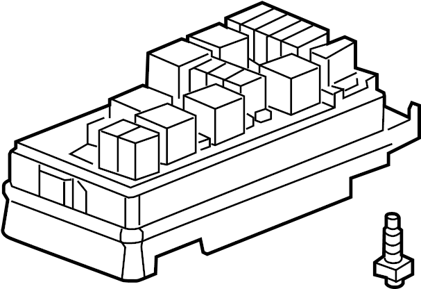 Chevrolet Equinox Fuse Box. UNDERHOOD, w/o tow pkg