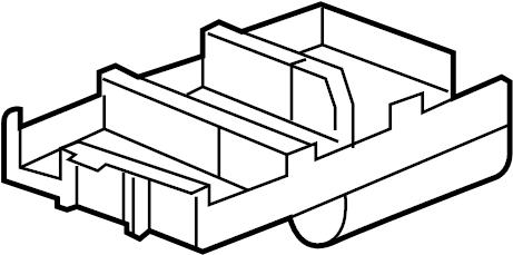 Chevrolet Equinox Fuse Box Bracket (Lower). UNDERHOOD