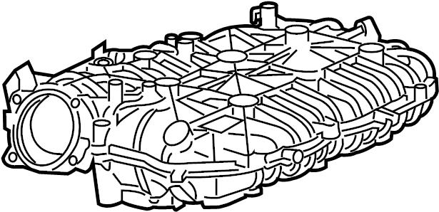 GMC Acadia Engine Intake Manifold (Upper). 2015-16, upper