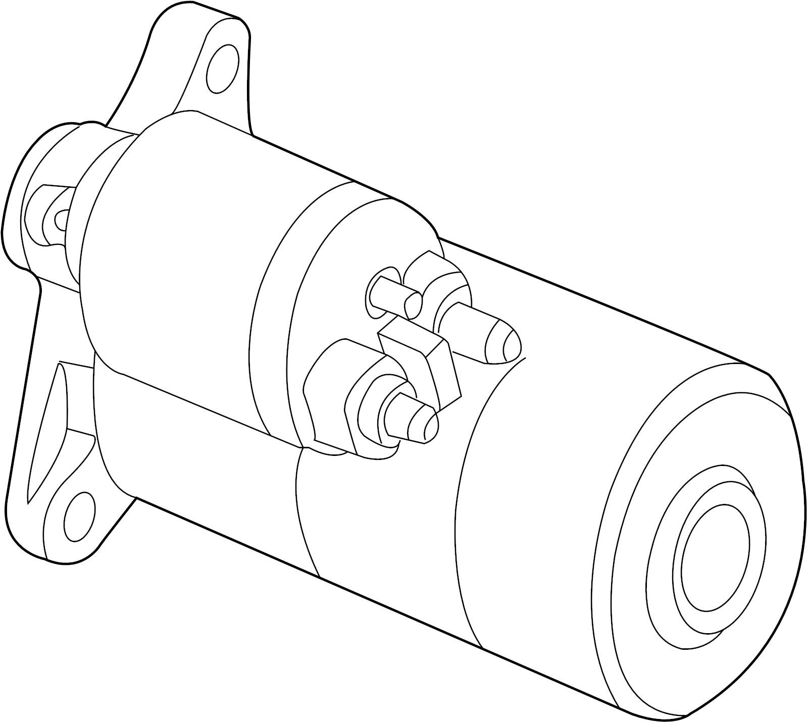 Pontiac Sunfire Starter Motor. Liter, DOHC, Sedan