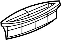 Pontiac G5 Cowl Water Deflector. COUPE,. Sedan,. Type 2