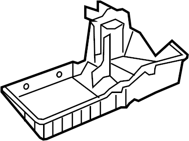 Pontiac Solstice Hvac unit case (lower). Pontiac; saturn