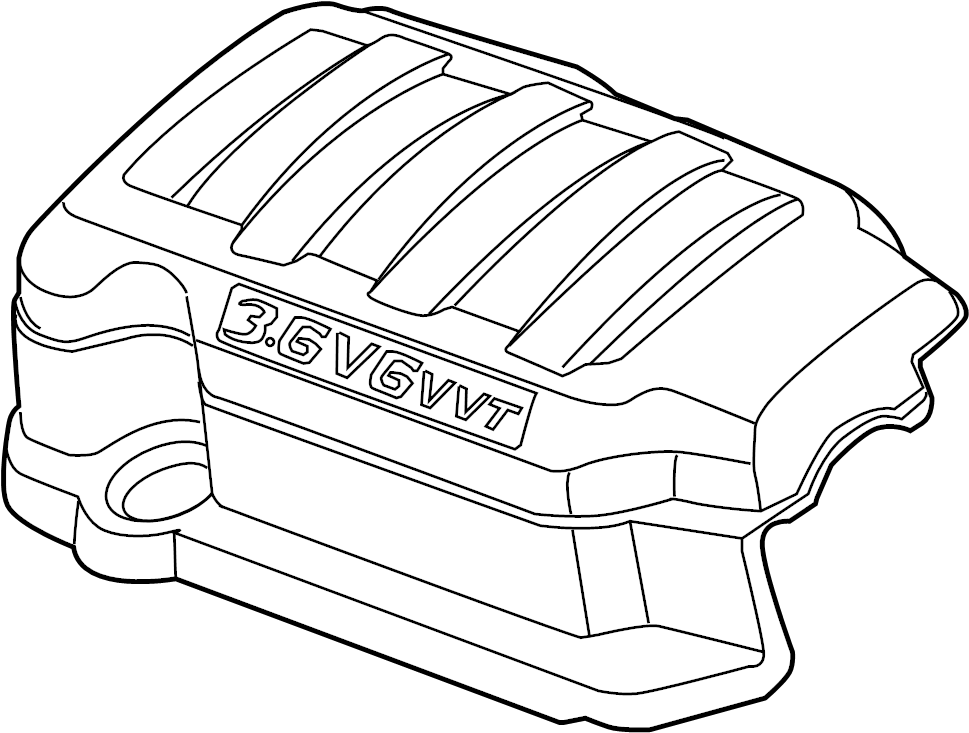 Buick Enclave Engine Cover (Upper). Engine Cover. SHIELD