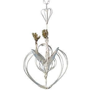 Milena Trujillo 'Golden Dreams' 2004. Pendant; silver, crystals