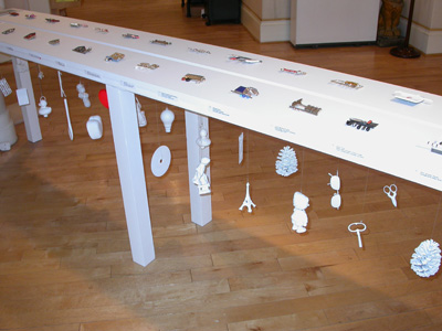 7.46 'End of the Line' 2004. Installation; Roger Billcliffe Gallery, Glasgow
